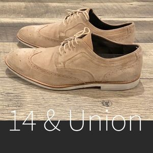 14th & Union men's suede leather Oxford shoes 11.5